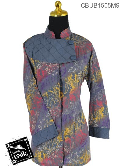 Blus Batik Panjang Motif Gradasi Daun