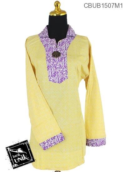 Baju Batik Terbaru  Blus Panjang Pekalongan Motif Kotemporer Jenis