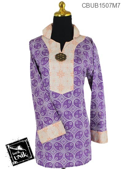 Baju Batik Blus Panjang Pekalongan Motif Kotemporer Jenis