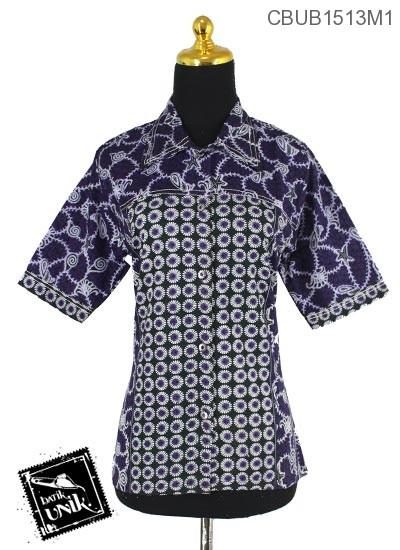 Baju Batik Terbaru  Blus Tanggung Motif Janggel Berduri