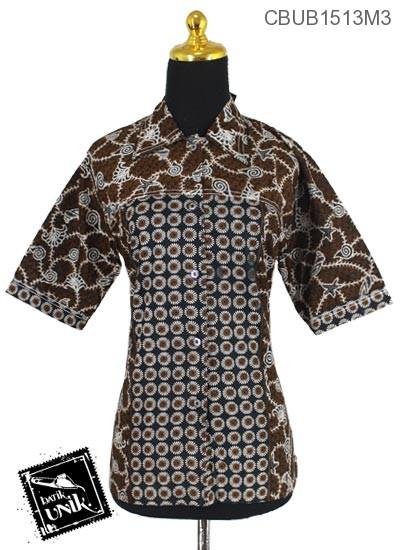 Baju Batik Blus Tanggung Motif Janggel Berduri