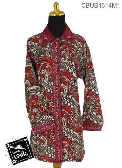 Baju Batik Terbaru  Blus Jumbo Panjang Katun Motif Alas Watu Ri