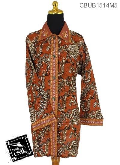 Baju Batik Blus Jumbo Panjang Katun Motif Alas Watu Ri
