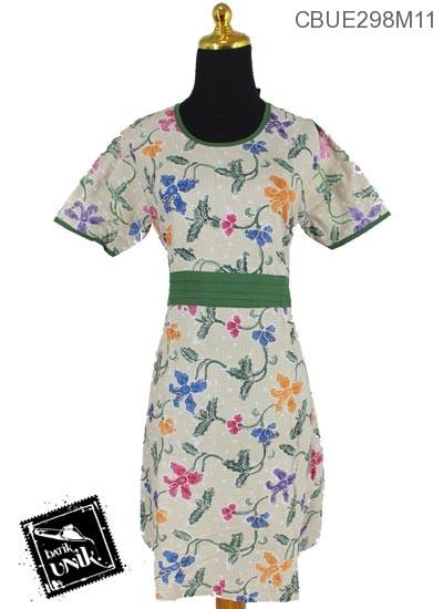 Baju Batik Pesta Pekalongan Motif Bunga Sepatu Kipas