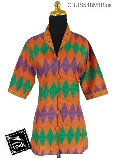 Baju Batik Terbaru  Sarimbit Blus Motif Rang Rang Garis
