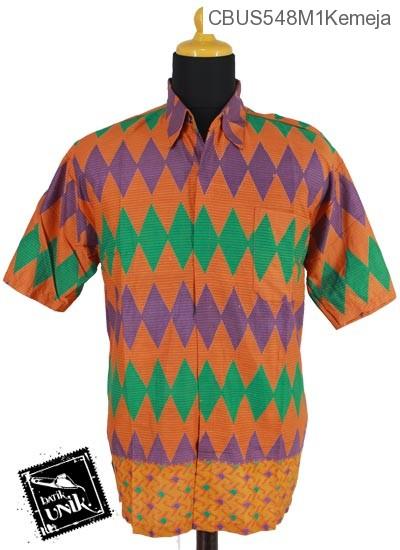 Baju Batik Terbaru  Sarimbit Kemeja Motif Rang Rang Garis