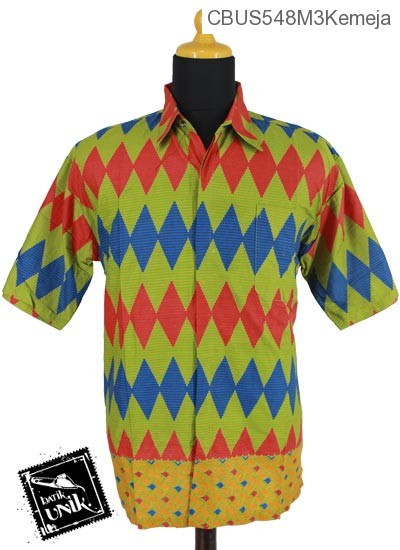 Baju Batik Sarimbit Kemeja Motif Rang Rang Garis