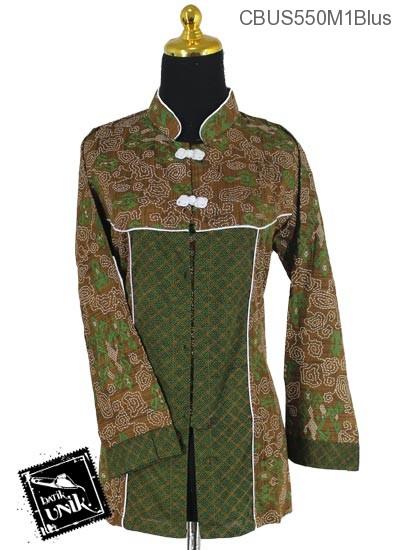 Baju Batik Terbaru  Sarimbit Blus Katun Motif Wadas Grombol Etnik