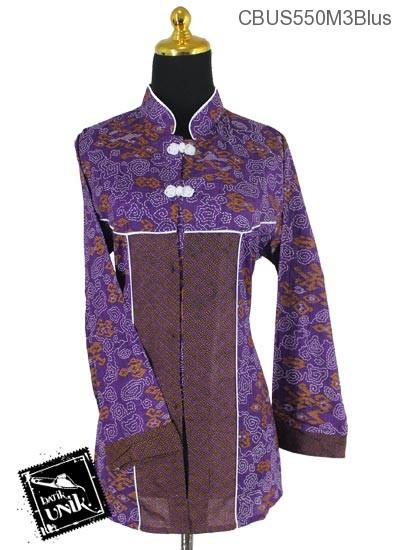 Baju Batik Sarimbit Blus Katun Motif Wadas Grombol Etnik