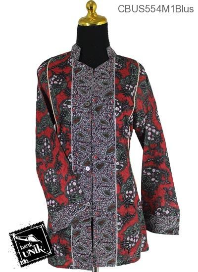 Baju Batik Sarimbit Blus Pekalongan Motif Kerang Ceplok