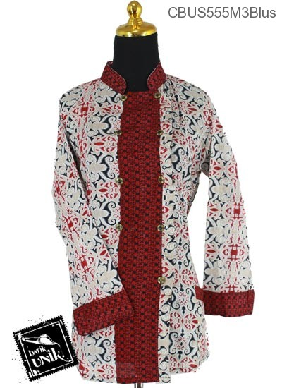 Baju Batik Sarimbit Blus Katun Motif Asmad Klawik