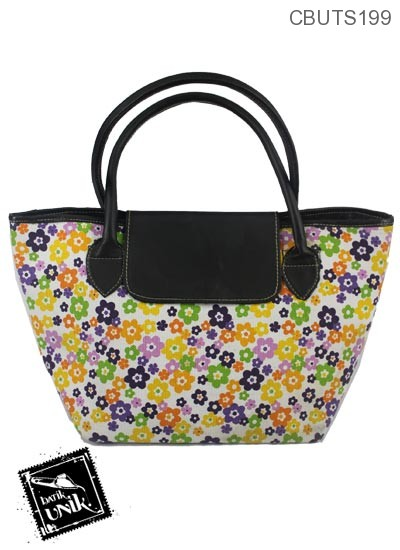 Tas Long Champ Mini Motif Bunga Bunga Cerah