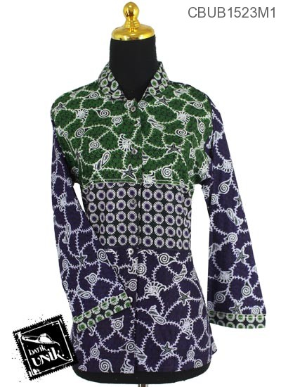 Baju Batik Terbaru  Blus Panjang Motif Janggel Berduri