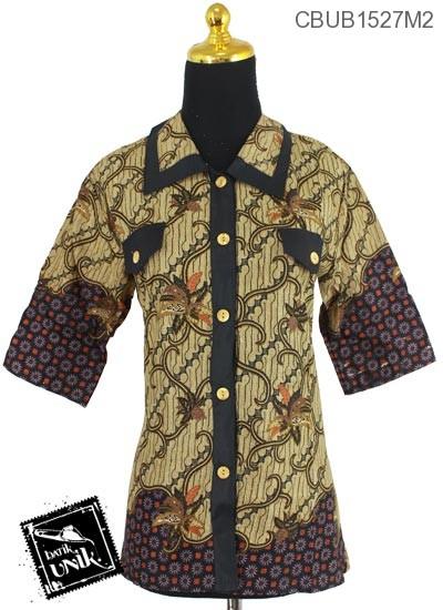 Baju Batik Blus Tanggung Motif Parang Bintang