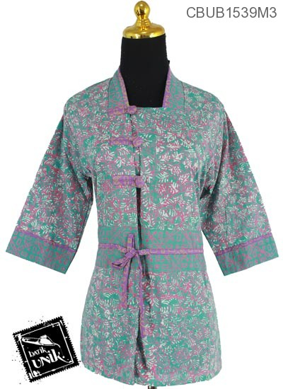 Blus Batik Tanggung Motif Kuncup Bunga