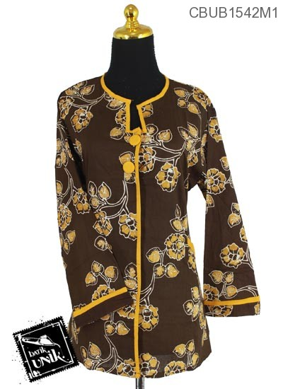 Kemeja Batik Terbaru  Panjang Katun Motif Kembang Tangkaian