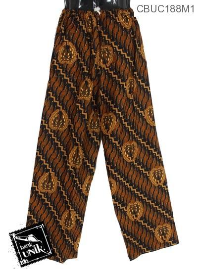 Celana Panajng Jumbo Solo Motif Garuda Klasik Hitam