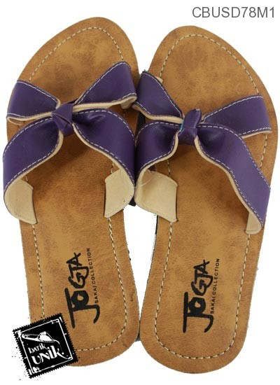 Sandal Selop Sokelat Cantik