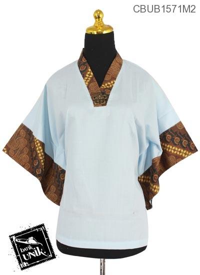 Blus Kimono Katun Motif Mataraman Polos