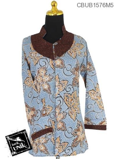 Baju Batik Blus Panjang Motif Daun Merambat