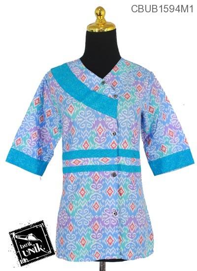 Blus Batik Terbaru  Tanggung Motif Songket Bunga