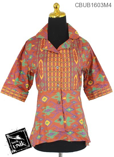 Blus Batik Tanggung Motif Mata Halloween