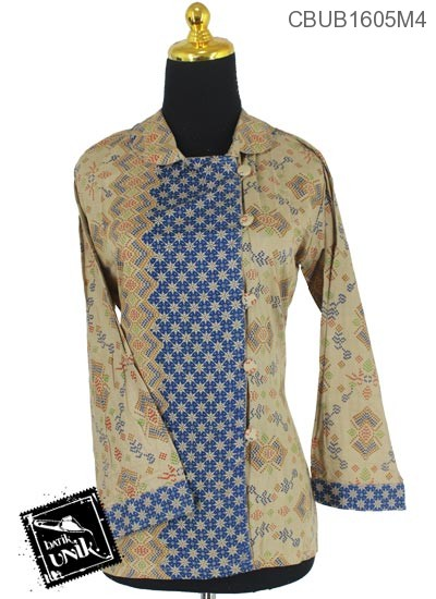 Blus Batik Panjang Motif Songket Teruntum