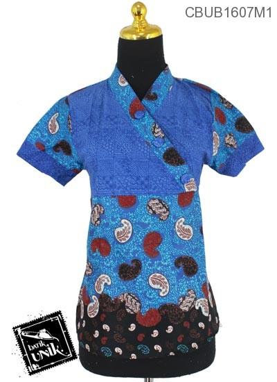 Blus Pendek Kimono Motif Amuba Isi