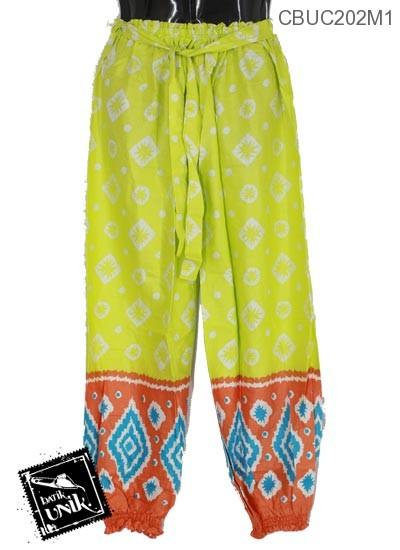 Celana Aladin Motif Sembagi Ceplok
