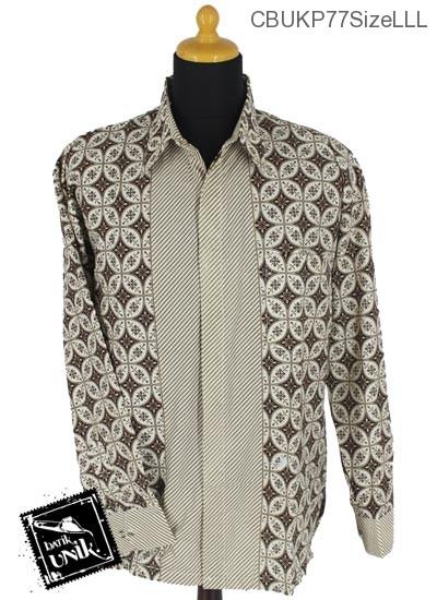 Baju Batik Terbaru  Kemeja Panjang Motif Kawung Pijetan