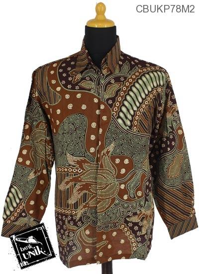 Baju Batik Kemeja Panjang Motif Godhong Riti Truntum