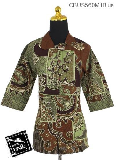 Baju Batik Terbaru  Sarimbit Blus Motif Matahari Cengkol