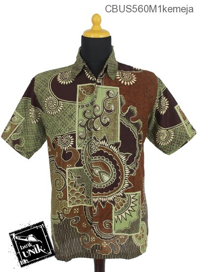 Baju Batik Terbaru  Sarimbit Kemeja Motif Matahari Cengkol
