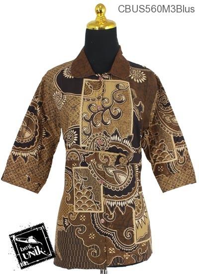 Baju Batik Sarimbit Blus Motif Matahari Cengkol