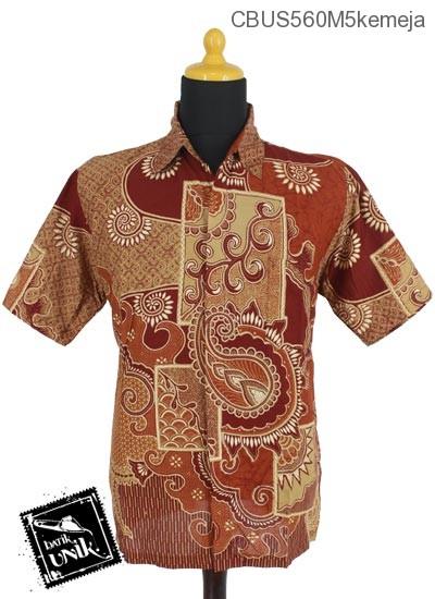 Baju Batik Sarimbit Kemeja Motif Matahari Cengkol