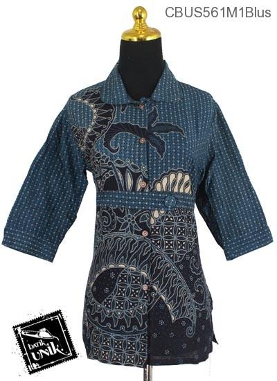 Baju Batik Terbaru  Sarimbit Blus Motif Kletekan Bunder