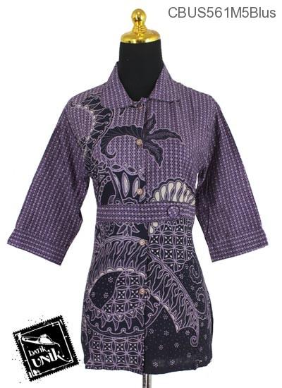 Baju Batik Sarimbit Blus Motif Kletekan Bunder