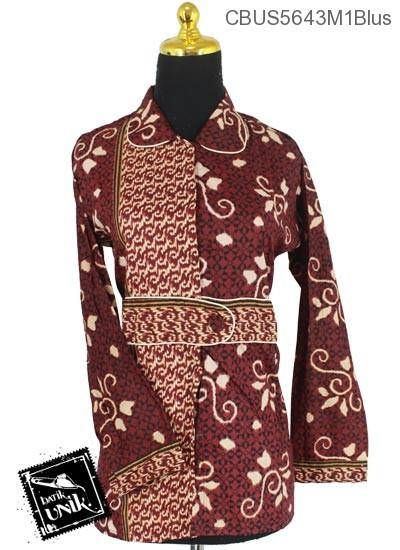 Baju Batik Terbaru  Sarimbit Blus Motif Lumping Alas Ceplok