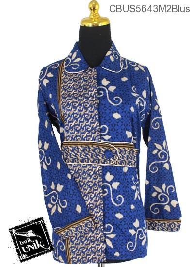Baju Batik Sarimbit Blus Motif Lumping Alas Ceplok