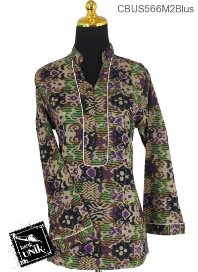 Baju Batik Sarimbit Blus Motif Salur Songket