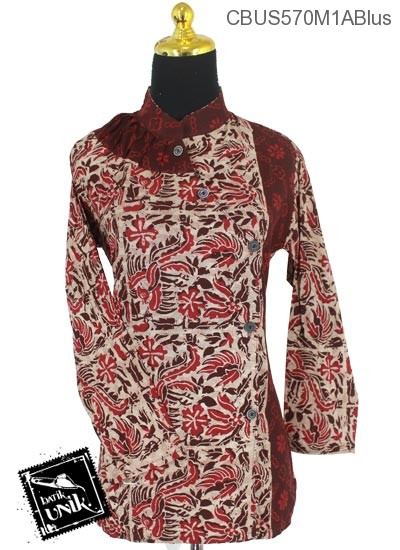 Baju Batik Terbaru  Sarimbit Blus Motif Kotemporer Alas