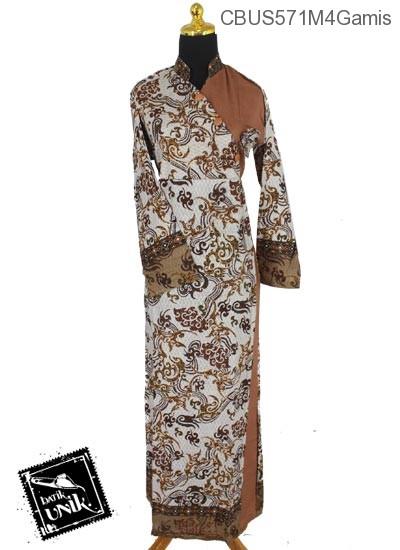 Baju Batik Sarimbit Gamis Motif Anyaman Bunga