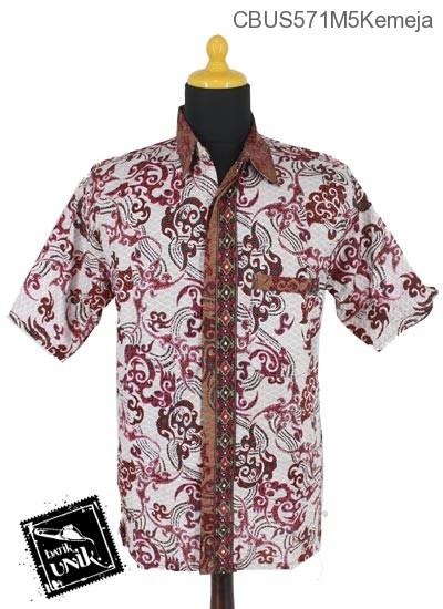 Baju Batik Sarimbit Kemeja Motif Anyaman Bunga
