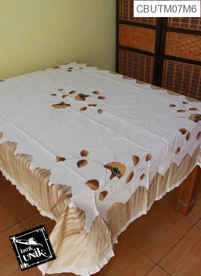 Taplak Meja Makan Persegi Panjang Batik Motif Lukis Kupu Kupu