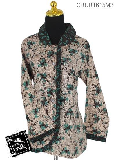 Baju Batik Blus Panjang Motif Godhong Plengkuwer