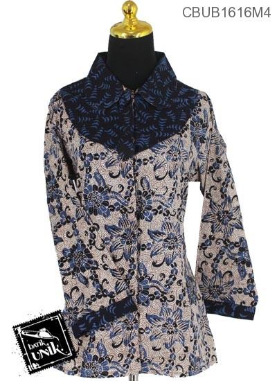 Blus Batik Panjang Motif Godhong Plengkuwer