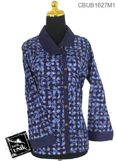 Baju Batik Terbaru  Blus Panjang Motif Ceplok Alas