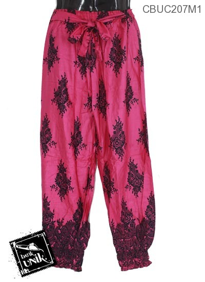 Celana Aladin Motif Kembang Buket