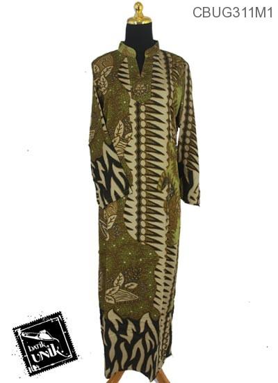 Baju Batik Terbaru  Gamis Motif Kotemporer Bunga
