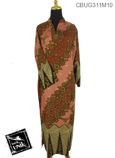 Baju Batik Gamis Motif Kotemporer Bunga